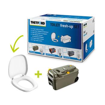Thetford Toilet fresh-up Set C200 - New Design holding Tank with Wheels