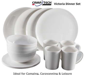 Camptech Victoria Melamine Dinner Set - 16 Pieces