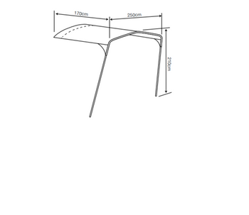 Outdoor Revolution Camp Star Connecting Sun Canopy for 500XL, 600, AND 1200 MODELS