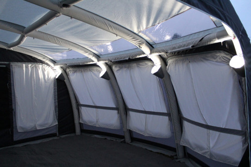 Can be used in conjunction with Outdoor Revolutions Up-Down Lighter Reflective Light Shades for great Atmospheric Lighting compatible Outdoor Revolution Tents or Awning.