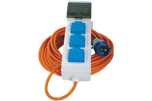 Site Power Mobile Mains Hook Up 3 Sockets, RCD Protection
