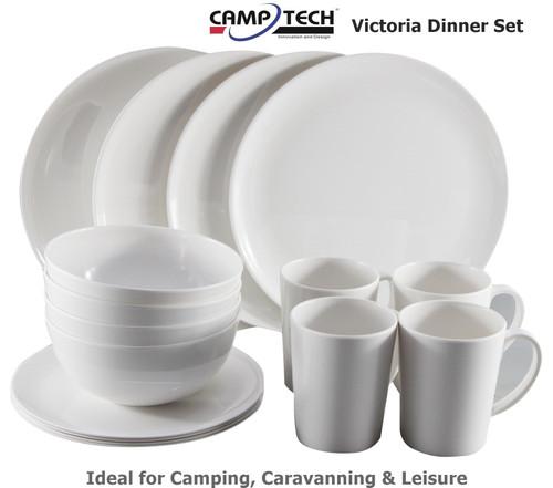Camptech Victoria Melamine Dinner Set - 16 Pieces