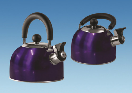 1.6 Litre Gas Hob Kettle with Folding Handle - Blue