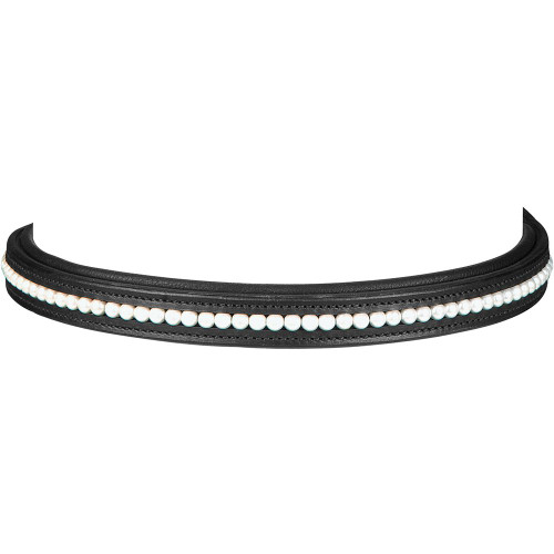 Browband Black with Pearl Detail