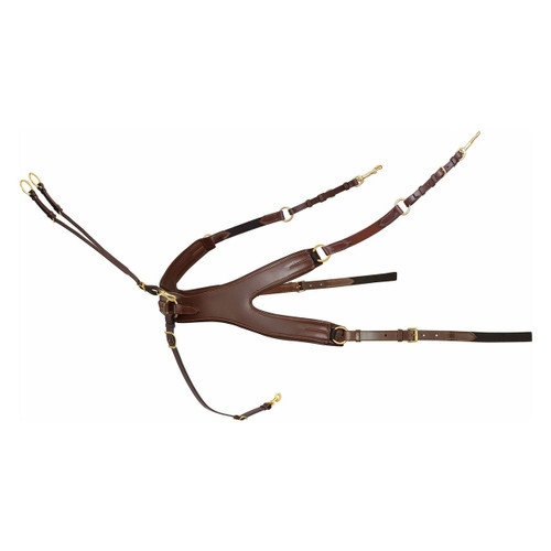 Passier Aurigan Leather Breastplate Havana Brown