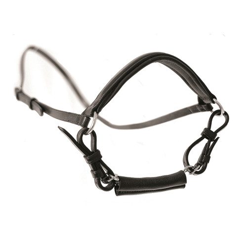 Mark Todd MT Drop Noseband with Chain Black