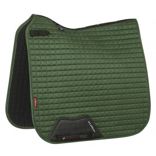 Le Mieux ProSport Suede Dressage Pad Hunter Green