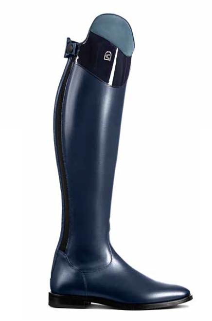 Cavallo Linus Nubuck & Patent Edition Tall Boot Blue