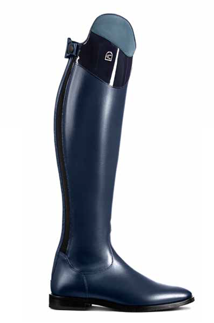 Cavallo Linus Nubuck & Patent Edition Tall Boot Blue