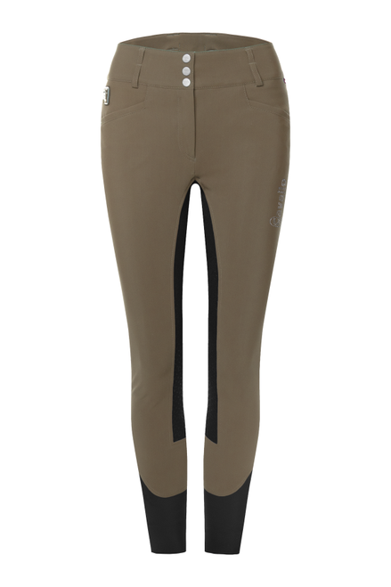 Cavallo Celine X Grip Taupe - Graphite Breeches Front
