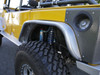 GenRight Rear Tube Fenders | Bare Aluminum