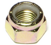 Grade 8 Fine Thread Lock Nut   9/16-18   Gold Zink Plates