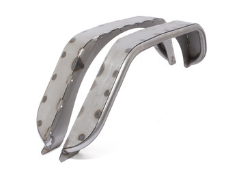 GenRight Rear Tube Fenders - Bare Steel.