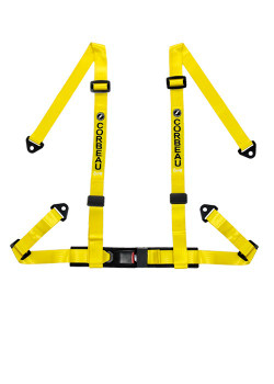 2-Inch 4-Point Harness Belts - Yellow