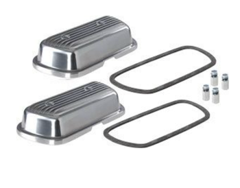 Finned Aluminum Valve Covers With Hardware And Gaskets