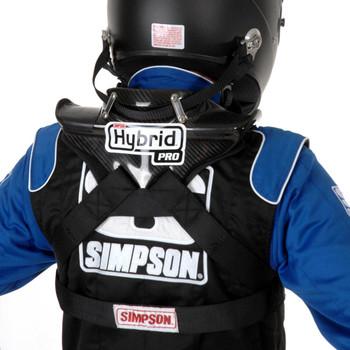 Simpson Hybrid Pro Rage X-Large Neck Neck Restraint System With Sliding Helmet Tether