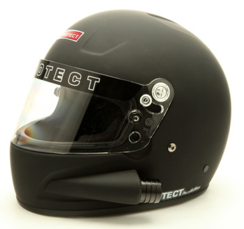 Pyrotect Medium Pro Airflow Side Forced Air SA2015 Flat Black Helmet Wired For Race Radio