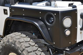 "Flat Fender Flare - Crusher Corners with 3"" Defender Flares"