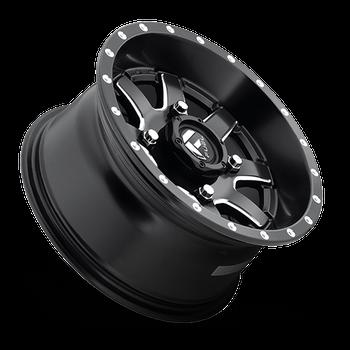 Fuel Off-Road UTV Wheels | Maverick D538 | 7x 24 | 4x110 | Black Milled | D5382470A444