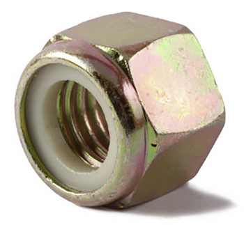 Grade 8 Fine Thread Lock Nut | 9/16-18 | Gold Zink Plates