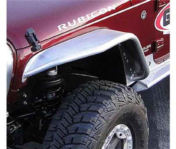 GenRight Front Tube Fenders - Bare Aluminum