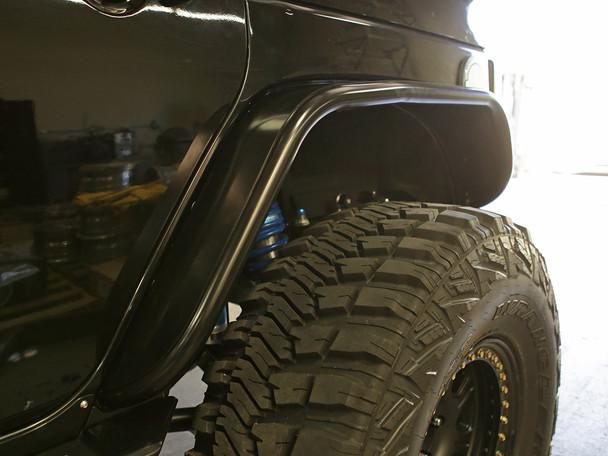 GenRight Rear Tube Fenders - Bare Steel.