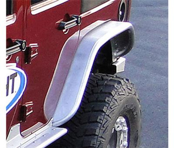 GenRight Rear Tube Fenders - Bare Aluminum