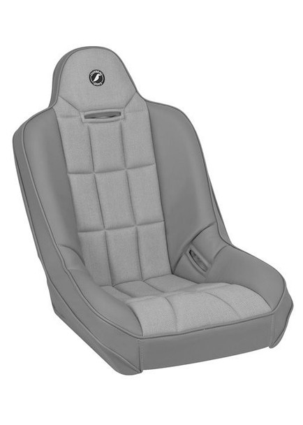 Baja SS Suspension Seat - Grey Vinyl / Gray Cloth