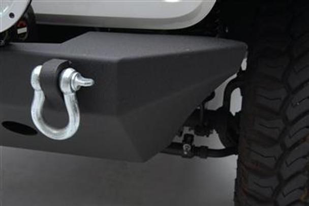 SRC Classic Rock Crawler Front Bumper with Winch Plate and D-ring Mounts