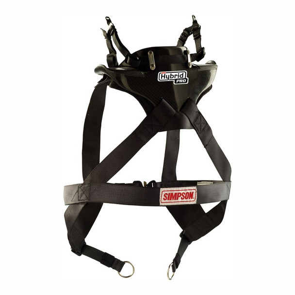 Simpson Hybrid Pro Rage X-Large Neck Neck Restraint System With Sliding Helmet Tether