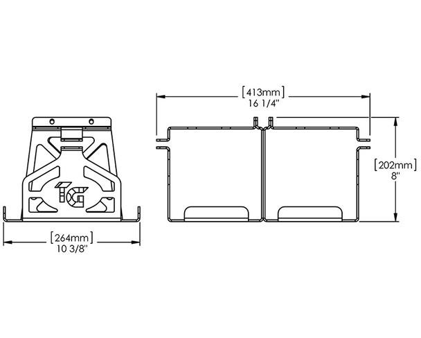 Battery Box Kit * Dual Optima by: Trail-Gear (300383-KIT)