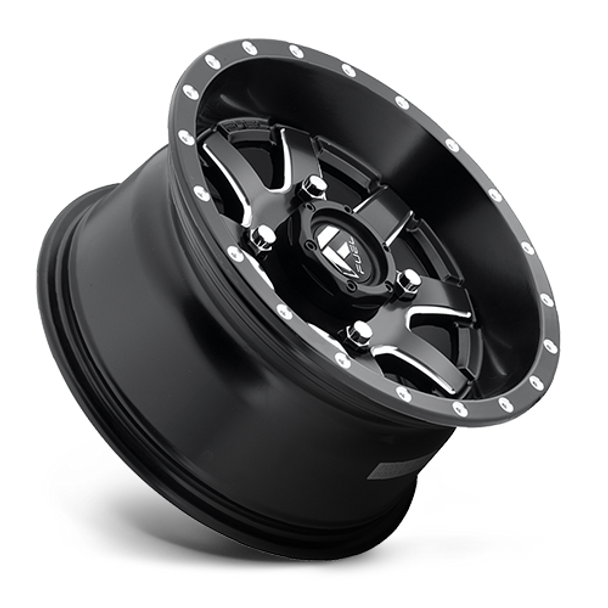 Fuel Off-Road UTV Wheels | Maverick D538 | 7x 24 | 4x110 | Black Milled | D5382470A444