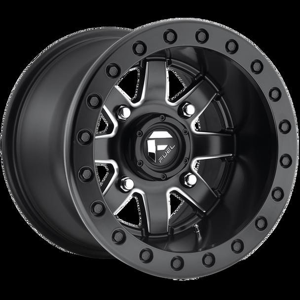 Fuel Off-Road UTV Beadlock Wheels | Maverick D928 | 14x10 | 4 x110 | Black and Milled | D9281400A455  at www.renooffroad.com