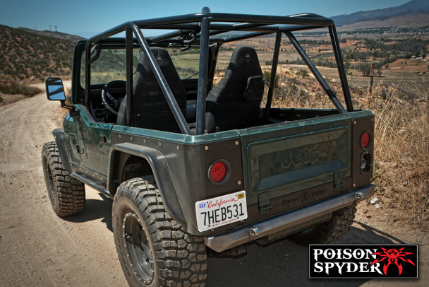 Product - Full Roll Cage Kit | Poison Spyder Lazer - Fit Cage | YJ / CJ-7 at www.renooffroad.com