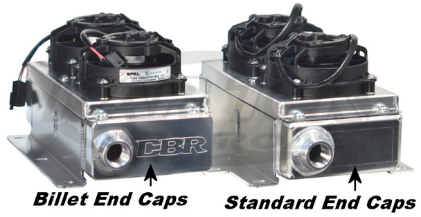 "CBR Dual Fan | Mini Oil Cooler | w. Dual 4"" Fans 
