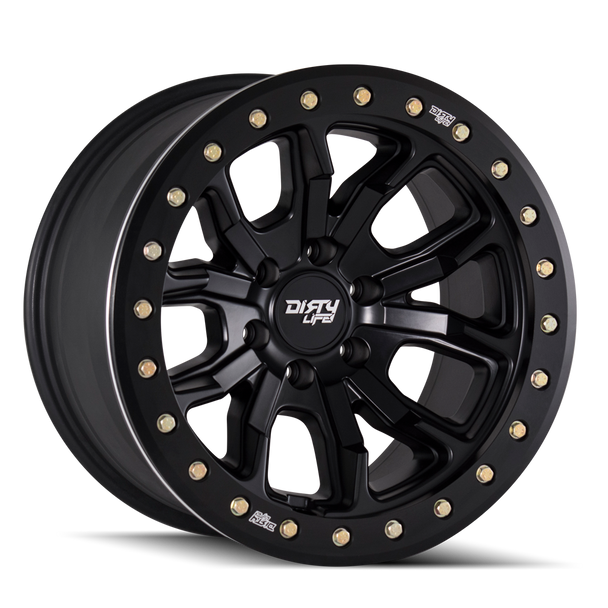 Dirty Life Beadlock Wheel | 9303 DT-1 | Matte Black (DOT)
