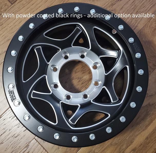 Walker Evans Racing Beadlock Wheels   Legend II   17x8.5   Satin Black w. Accents