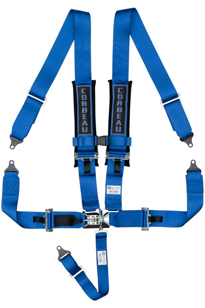 3-Inch 5-Point Harness Belts - Latch & Link - Blue