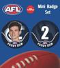 Carlton 2020 AFL Player Mini Badge Set