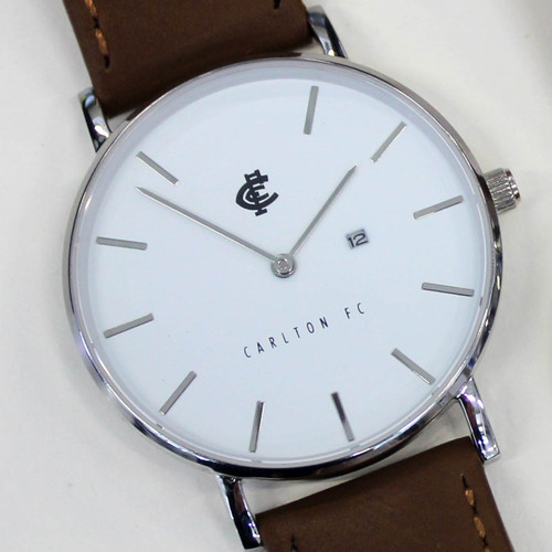 Carlton Monogram Watch - White