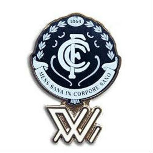 Carlton AFLW Logo Pin