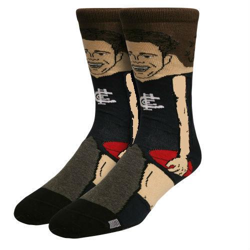 Carlton Charlie Curnow Nerd Player Socks - Large