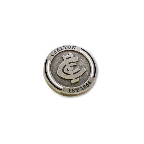Carlton Round Logo Pin