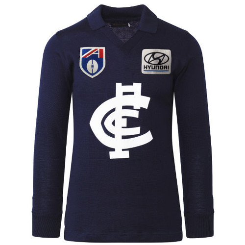 Carlton Fibre of Football Hyundai Long Sleeve Guernsey