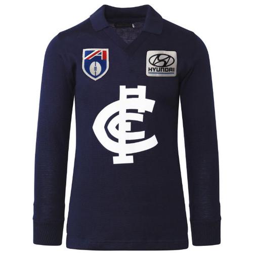 Carlton Fibre of Football Hyundai Long Sleeve Guernsey