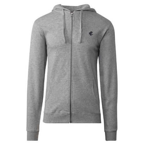 Carlton CFC Collection Zip Up Hood - Grey - Mens