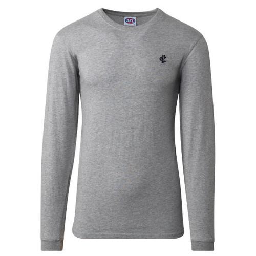Carlton CFC Collection Long Sleeve Tee - Grey - Mens