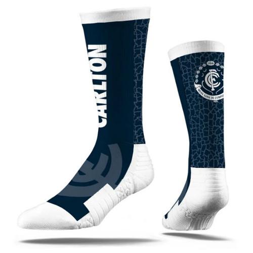 Carlton Strideline Wordmark Socks