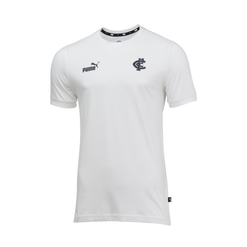 Carlton 2020 PUMA Culture White Tee - Adults
