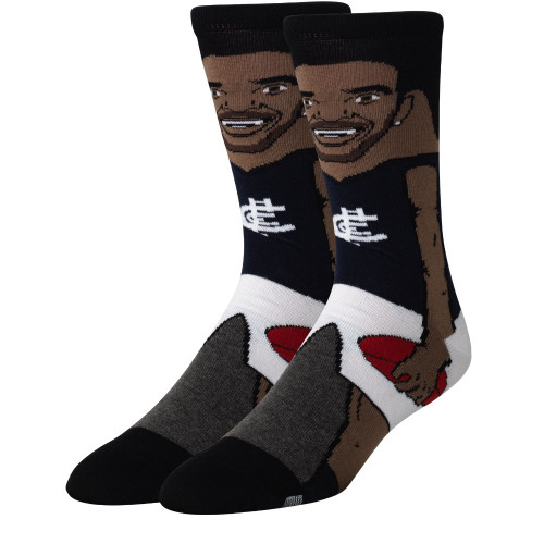Carlton Eddie Betts Socks - Small